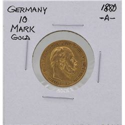 1880A Germany 10 Marks Gold Coin