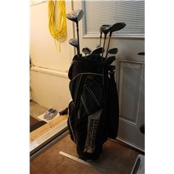 Golf Set (SK Roughriders Bag, Misc Golf Clubs)