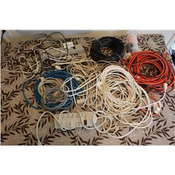 Lot of Misc Cords and Power Bars