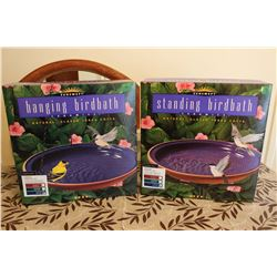 Royal Blue Ceramic Hanging Bird Bath (2)