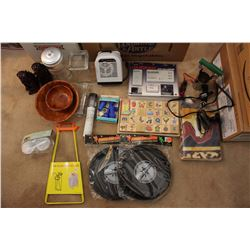 Lot of Misc (GPS Unit, Open Door Monitor, Frisbee's, Bowls)