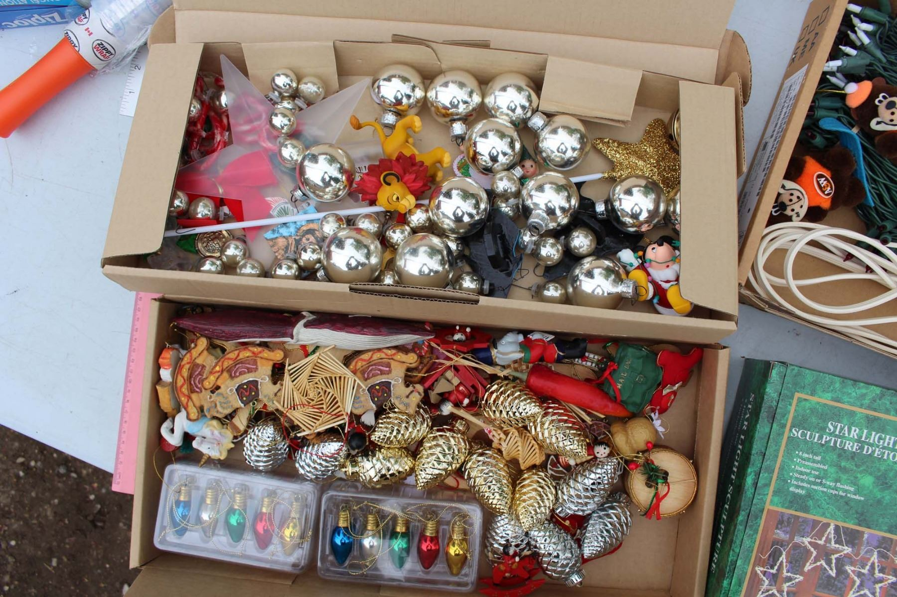 Image 2 Box Full Of Christmas Ornaments And Related