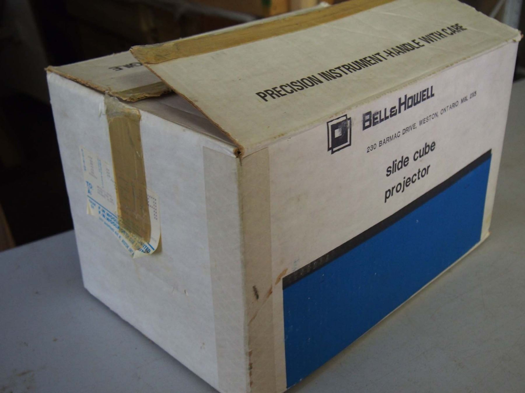 image 2 nib bell and howell slide cube projector