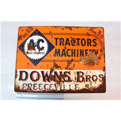 "Allis Chalmers 'Tractors Machinery' Sign (24"" x 18"")"
