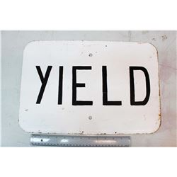 "Yield' Road Sign (18"" x 12"")"