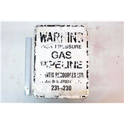 "Warning High Pressure Gas Pipeline' Sign (16"" x 12"")"