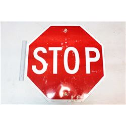 "STOP Sign- Marked 1985 (24"" x 24"")"