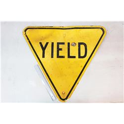 "Yield' Road Sign (27"" x 24"")"