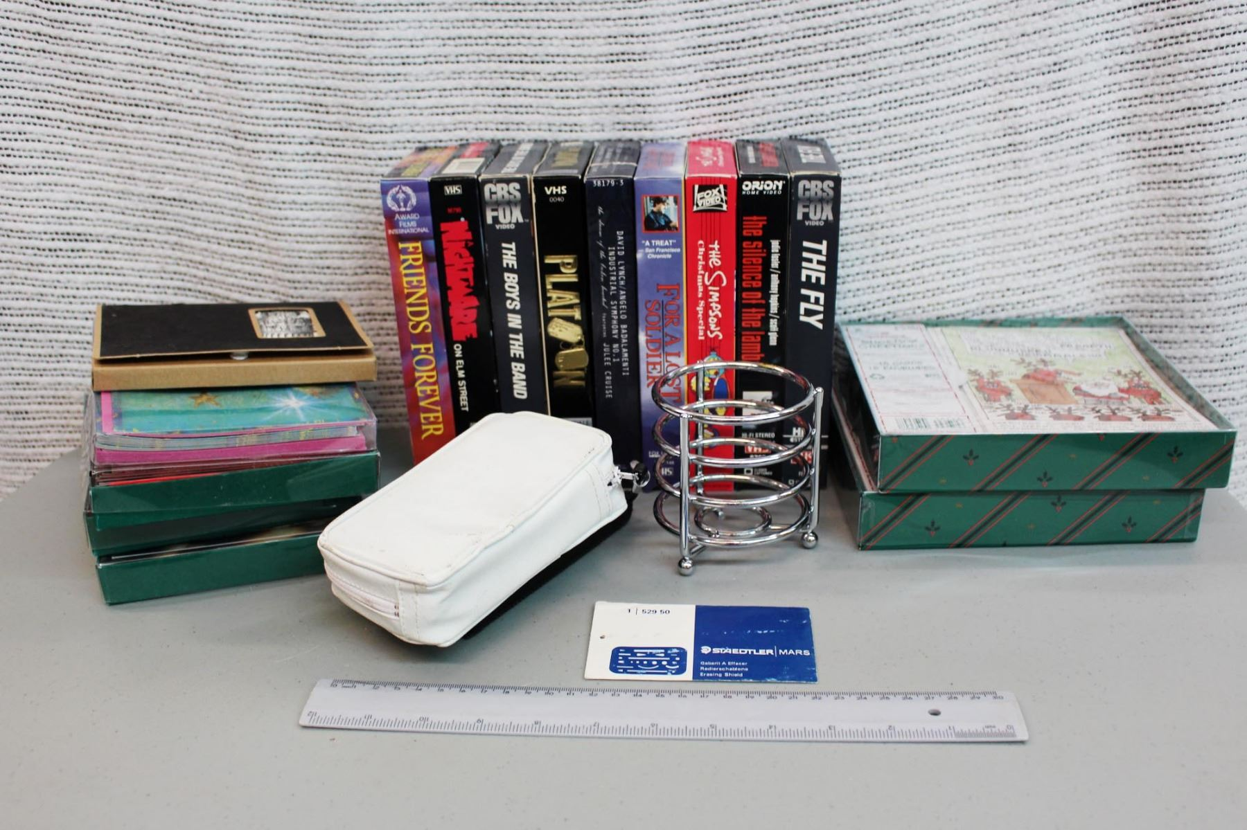 Christmas Cards, VHS Tapes and (2) Calculators