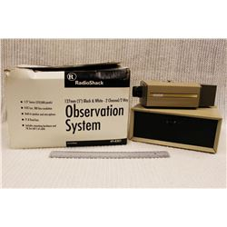 Vintage Radioshack Observation System and RCA Security Camera