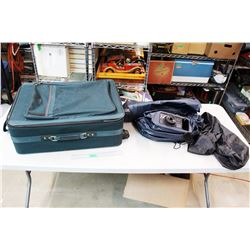 Green Atlantic Suitcase And Built In Electric Air Pump Air Mattress