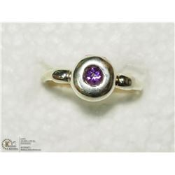 23) STERLING SILVER GENUINE AMETHYST RING