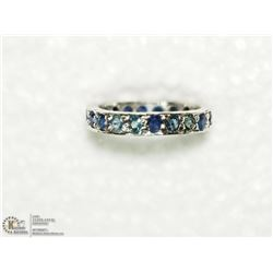 32) SILVER APPROX. 24 SAPPHIRES RING