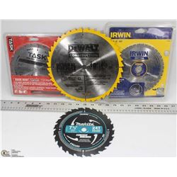 BOX OF SAW BLADES INCL 3 CIRCULAR SAW BLADES, 10""