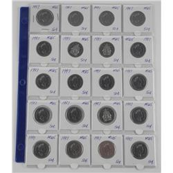 Lot (20) Canada 50 Cent - 1997. MS65. (*IXR)