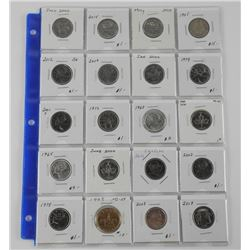 Lot (20) Canada Silver 25 Cent Mixed - Includes Sp