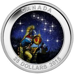 2015 $25 Star Charts: The Quest - Pure Silver Coin
