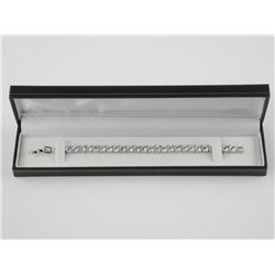 925 Silver Tennis Bracelet over (30ct)
