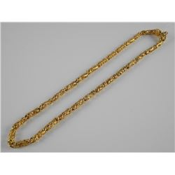 24kt Gold Plated Overlay - Tube Chain, Dragon Desi