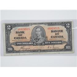 Bank of Canada 1937 Two Dollar Note C/T