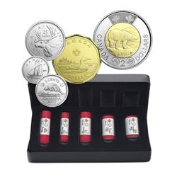 2017 Classic Canadian Coins Special Wrap - 5 Roll Collection