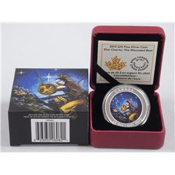 2015 $25 Star Charts: The Wounded Bear - Pure Silver Coin.