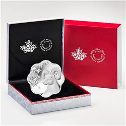 2015 $15 Lunar Lotus Year of the Sheep - Pure Silver Coin