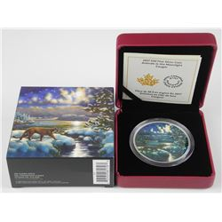 2017 $30 Animals in the Moonlight: Cougar - Pure Silver Coin.