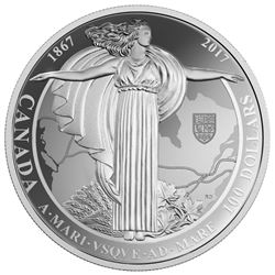 2017 $100 1927 Diamond Jubilee of Canadian Confederation - Pure Silver Coin