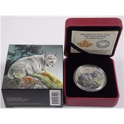 2016 $20 Majestic Animals II: The Commanding Canadian Lynx - Pure Silver Coin