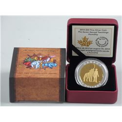 2014 $20 The Seven Sacred Teachings: Humility - Pure Silver Coin
