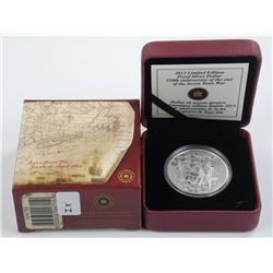 2013 $1 End of the Seven Years War, 250th Anniversary - Special Edition Pure Silver Dollar