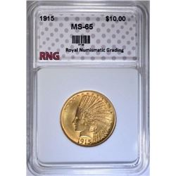 1915 $10 GOLD INDIAN MS-65