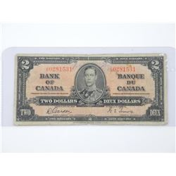 Bank of Canada 1937 - Two Dollar Note. G/T