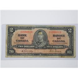 1937 Bank of Canada Two Dollar Note. (VG) (MM)