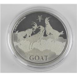 .9999 Fine Silver 2015 Year of the Goat Coin (OE)