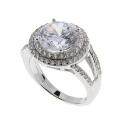 925 Sterling Silver Ring with Swarovski Elements S