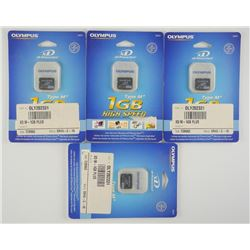 Lot (4) Olympus 1GB Picture Cards