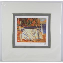 Tom Thomson (1877-1917) Litho 'The Tent' Matted with Gold Fillet