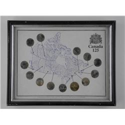 Canada 125 - Collector Frame with Coins
