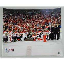 Team Canada 2010 Gold Medal Champs 16x20 Celebration Photo with Crosby