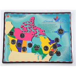 Canada 125 Coin Board with Coins