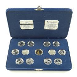 1992 925 Sterling Silver 25 Cent Coin Collection