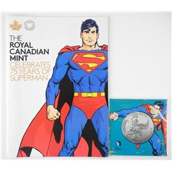 'Superman' 75 Years RCM Magazines, .9999 Fine Silver $20.00 Coin. SOLD OUT