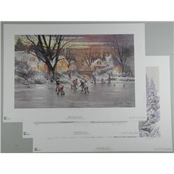 3x 'Doug Laird' Litho's Signed and Numbered/LE - Hockey Themes. Approx 17 x 25""