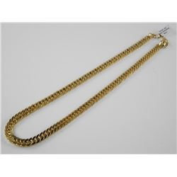 "24"" 24kt Gold Plated/Over Stainless Steel Link Chain"