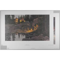 """2x Doug Laird - Litho's Signed and Numbered/LE 'Starry Night' and 'The Game is On' Approx 23x22"""""""