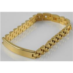 Gold Plated/Stainless Steel - ID Bracelet Rolex Link