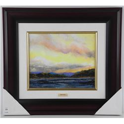 """Alicia Soave - Studio Litho Panel 'Northern Sunset' Gallery Framed with C.O.A. 18x20"""""""