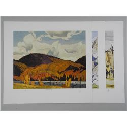 3x A.J.Casson (1898-1992) Rare Signed Lithos. 11x13 Unframed with C.O.A. and Appraisals: $1750.00